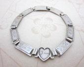 RESERVED LISTING sterling silver friendship love bracelet initials