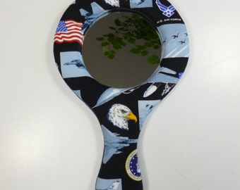 US Air Force hand-held mirror