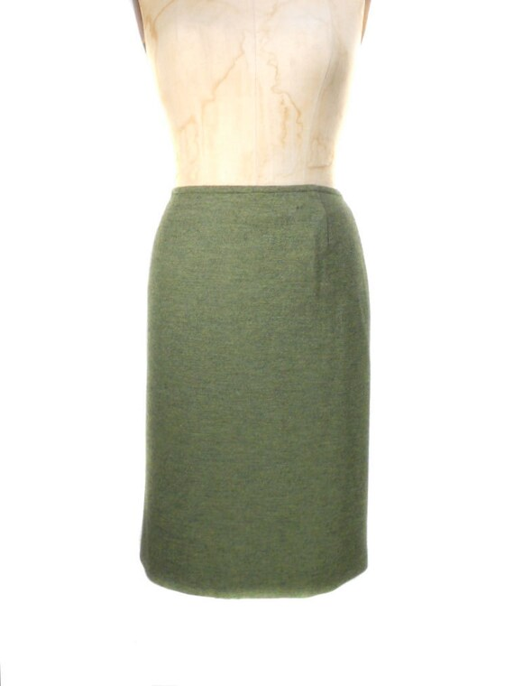 S A L E vintage 1990s MARC JACOBS pencil skirt / LOOK / olive green / ready to wear / straight skirt / women's vintage skirt / size 46