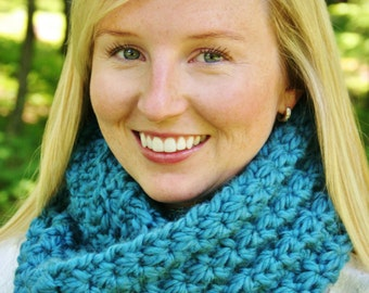 CROCHET infinity SCARF PATTERN by Sugarthreadz Instant Download