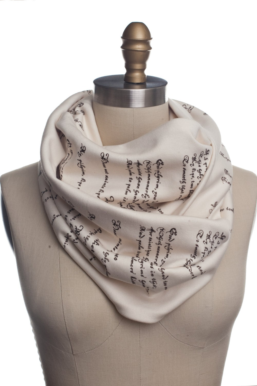 romeo juliet book scarf