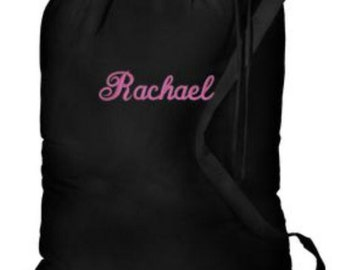 High School Graduation Gifts for Her - Personalized Laundry Bags for College Students - Laundry Bags for Camp - Monogrammed Laundry Bags