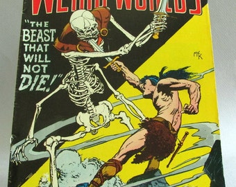 Vintage Weird Worlds Comic Book No. 5, Deathknell and Combat, Vol. 2, May 1973, DC Comics