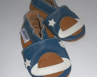 soft sole baby shoes leather infant kids children girl boy gift space 12-18m  ebooba 35-3