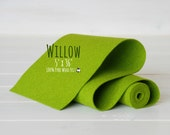 "100% Merino Wool Felt Roll - 5"" x 36"" Roll - Wool Felt Color Willow -1050 -  Willo Green Wool Felt - Pure Merino Wool - Green Wool Felt Roll"