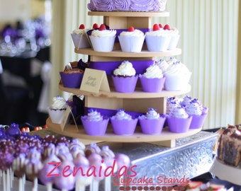 Cupcake Stand 4 Tier Round Cake Stand MDF Wood Cupcake Tower Display Stand Birthday Stand Wedding Stand DIY Project