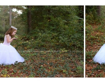 White Lace Child's Crown, Photography Prop