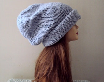 Knit Oversized Beanie Baggy Hat Super Slouchy Chunky Hat Fashion Accessories  Gift Ideas