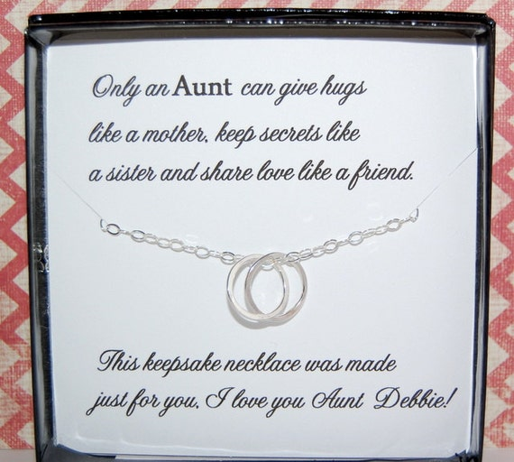 Birthday Quotes For Nieces: AUNT Necklace Gift For Aunt Gift From Niece Or Nephew Aunt