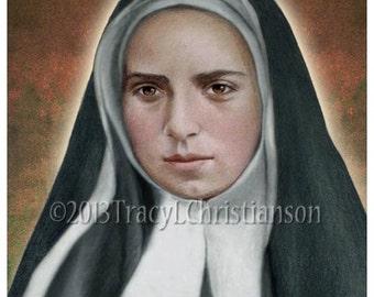 St. Bernadette Soubirous 2 Art Print Catholic Patron Saint of Illness #4313