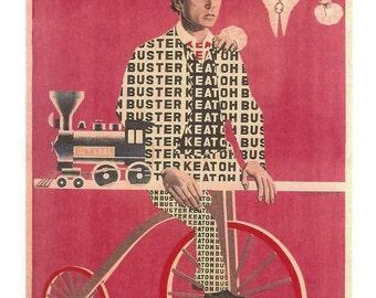 Buster Keaton Postcard