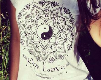 SALE!! Yoga t-shirt - Mandala