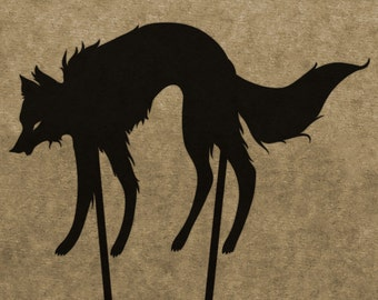 DIY Wolf Shadow Puppet Pattern (DOWNLOAD)