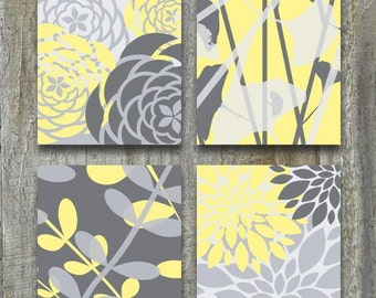 Yellow And Gray Wall Decor bathroom wall art relax soak unwind bathroom wall decor prints