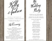 Printable Wedding Program - the Tilly Collection