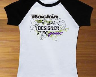 Rocking My Designer Genes Raglan Toddler Shirt