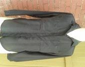 Vintage Black Silky Blous...