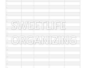 Monthly Bill Organizer Printable | Calendar Template 2016