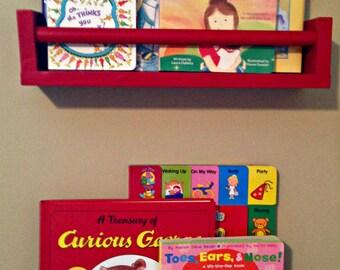 Wall Hanging Wooden Book Shelf
