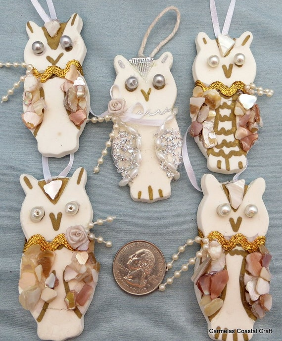 owl wedding decorations white decor owl onaments for wedding favors or coastal 6355