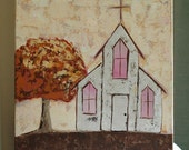 Original Acrylic Painting - Faith, Christian, Inspirational, Church, Urban, Rustic - To Every Thing There Is A Season
