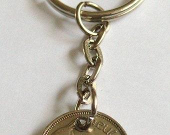 1940 3d Threepence Leath Reul Irish Coin Keyring Key Chain Fob  Birthday