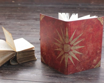 """Hand bound notebook, handmade journal, antique diary for moments of beauty: """"Heritage of love"""""""