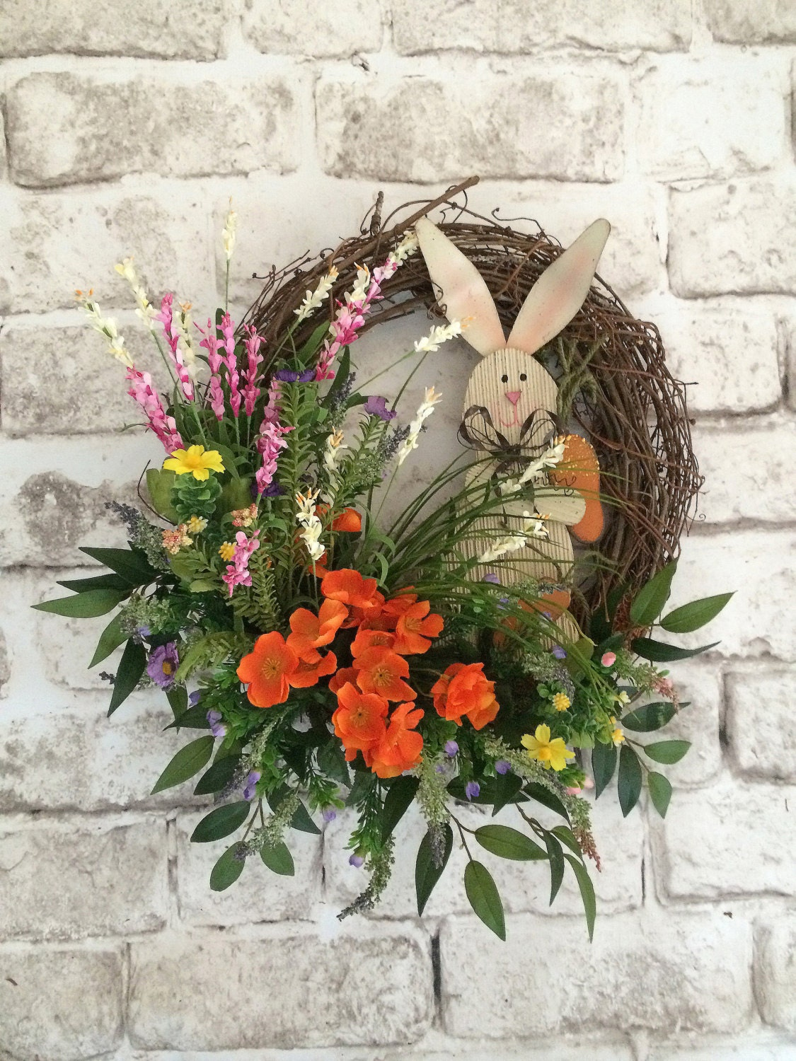 Easter Bunny Wreath Spring Wreath Easter Wreath Easter