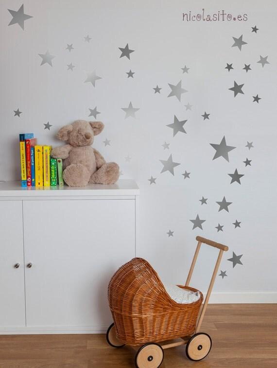 silver stars wall decal nursery silver stars wall stickers silver star wall decals wall sticker nursery wall by