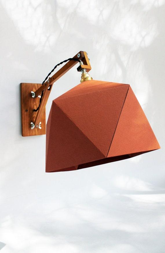 Senape lampada da parete applique lampada in legno lampada for Applique da parete legno