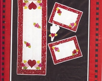 Be My Valentine Table Runner & Placemat Pattern
