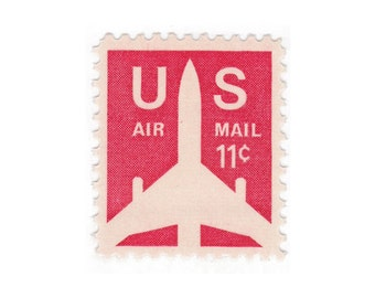 10 Unused Vintage Postage Stamps - 1971 11c Airmail Jet - Item No. C78