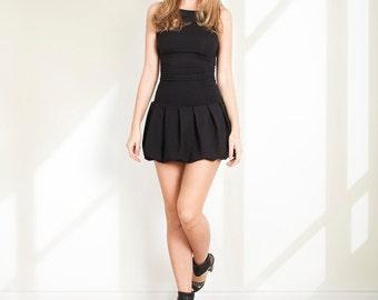 Black dress Petite dress Autumn dress Mini dress Little Party dress Fall Winter Black dress