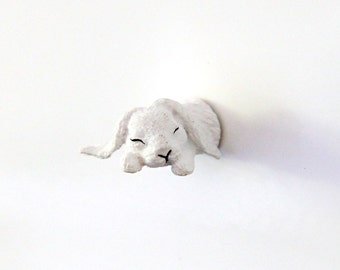 "Fridge Magnet ""Sleeping bunny"""
