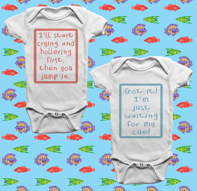 baby shower gifts twins funny baby clothes by designsbyvena