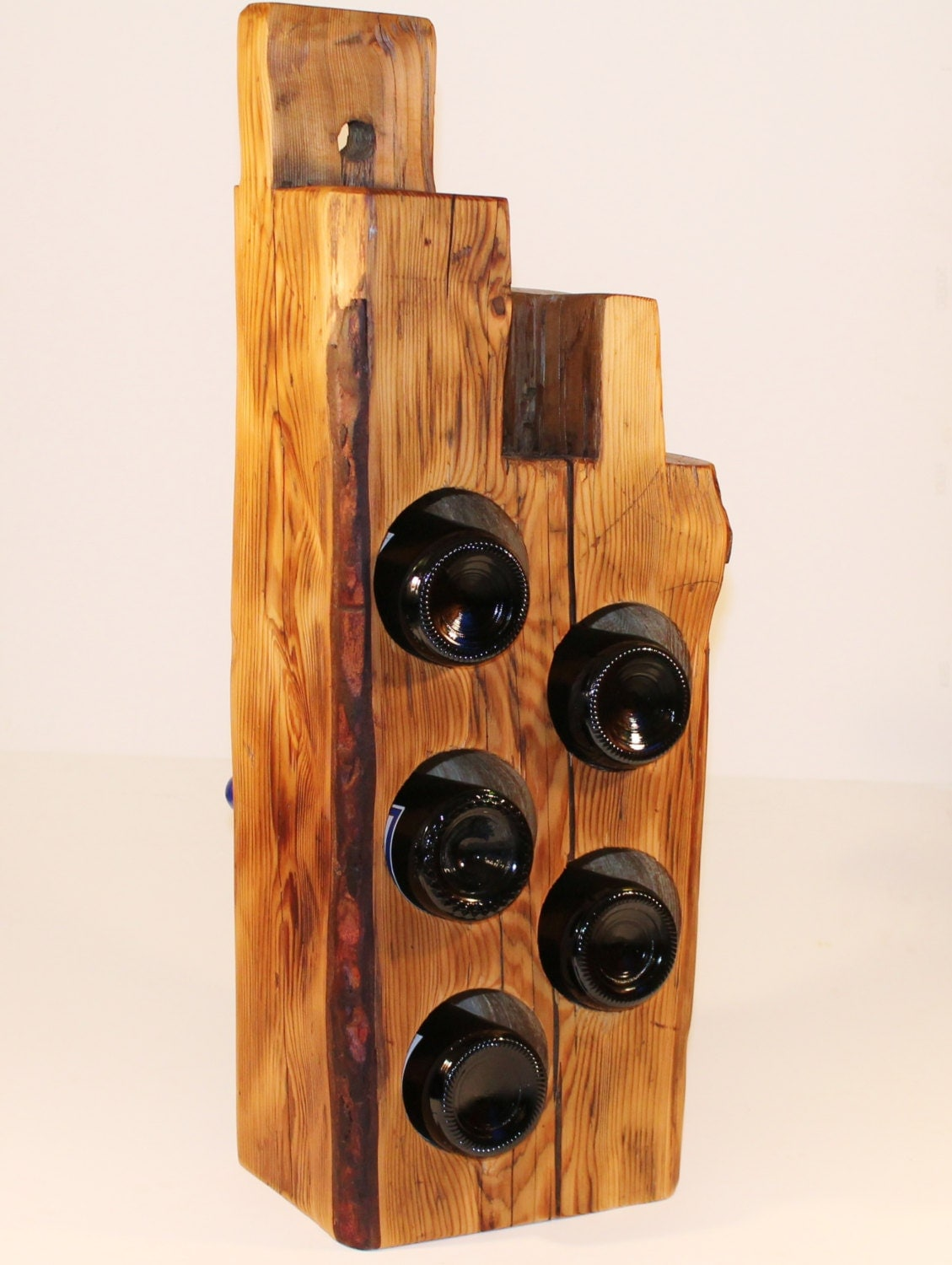 Live Edge Wood Wine Rack Maine Barn Beam By FeenAndNeen On