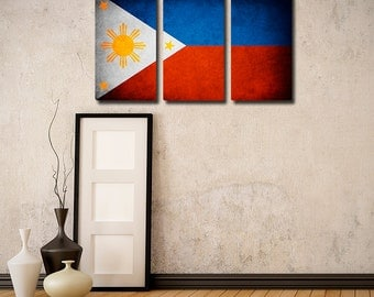 Philippines Flag Triptych (w/ Free Shipping!)