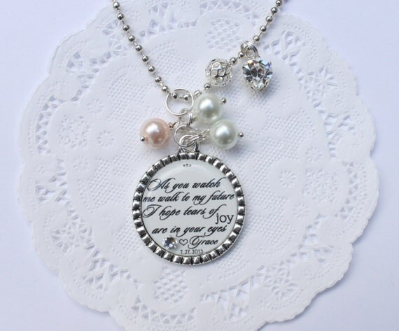 Jewelry Wedding Gift For Daughter : ... gift for mom on your wedding day, daughter to mother wedding jewelry