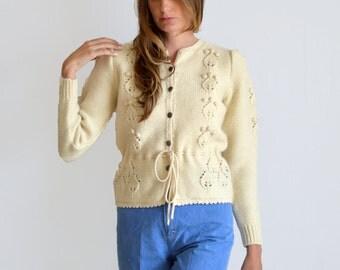 Vintage Wool Sweater Beige Susan Bristol