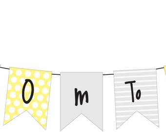 PRINTABLE Mom2Bee Bunting - Perfect for a Baby Shower