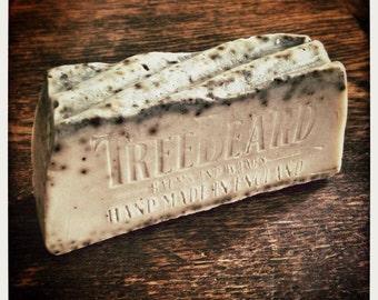 Beard Soap by TreeBeard with Goats Milk, Australian Blue Clay, Yorkshire Tea, and Botanical Oils