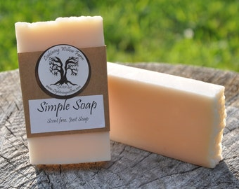 Simple Soap Unscented Handcrafted Soap