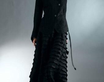 Black linen jacket.  Natural, romantic and inspiring.