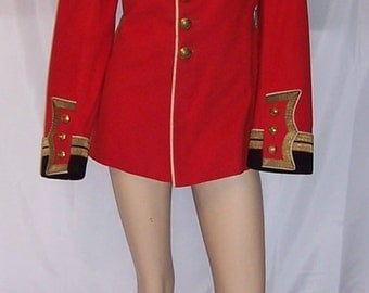 "Very Rare Men's Antique(1910-1914) British Red, ""Colonel on the Staff"", Single-Breasted Military Tunic/Jacket"