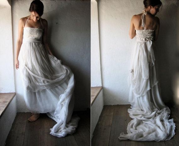 Brautkleid boho brautkleid b hmische hochzeitskleid von for Hippie brautkleid online shop
