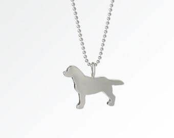 SALE! Love My Lab Sterling Silver Silhouette Pendant Necklace - Labrador Retreiver Lover Jewelry - For Pet People