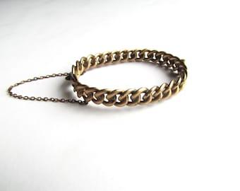 Antique Victorian Hinged Curb Chain Bracelet c.1880s