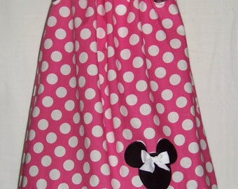 Minnie Mouse Dress / Pink Polka Dots / Disney / Character / Newborn / Infant / Baby / Girl / Toddler / Birthday / Custom Boutique Clothing