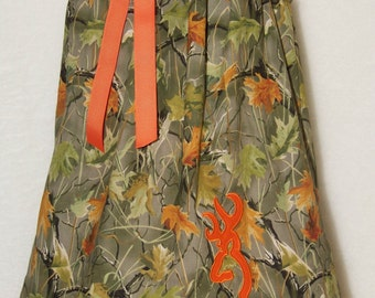 Camo Boutique Dress / Deer / Realtree / Orange / Chevron / Birthday / Baby / Girl / Infant / Toddler / Custom Boutique Clothing