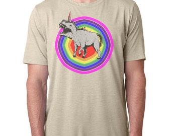 Vintage Style T-Shirt  Half Unicorn Half Dinosaur